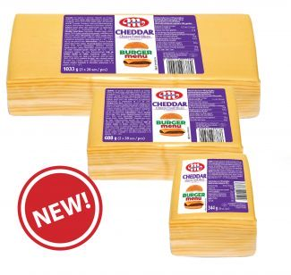 BURGER Cheddar processed cheese in slices