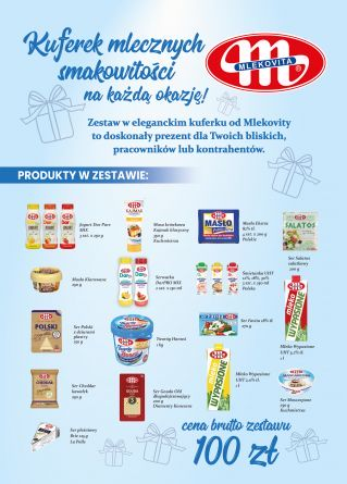 Kuferek mlecznych smakowitości (100 zł)