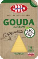 Ser Gouda z ziołami plastry 150 g