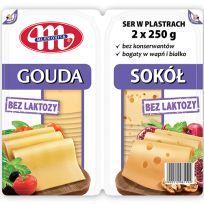 Ser Gouda i Sokół bez laktozy plastry - duopack 2 x 250 g