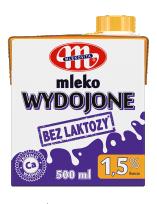 Wydojone bez laktozy 500 ml UHT 1,5%