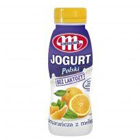 Jogurt Polski pitny bez laktozy pomarańcza - melisa 250 g