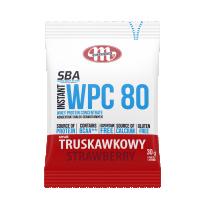 Super Body Active WPC 80 koncentrat białek serwatkowych instant truskawkowy 30 g