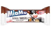 MiaMu batonik twarogowy o smaku orzecha laskowego w polewie czekoladowej 40 g