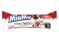 MiaMu batonik twarogowy o smaku wiśniowym w polewie czekoladowej 40 g