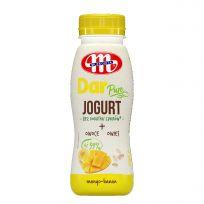 BEZ DODATKU CUKRÓW - jogurt pitny DAR PURE mango - banan