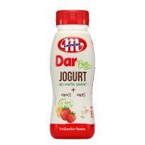 BEZ DODATKU CUKRÓW - jogurt pitny DAR PURE truskawka - banan