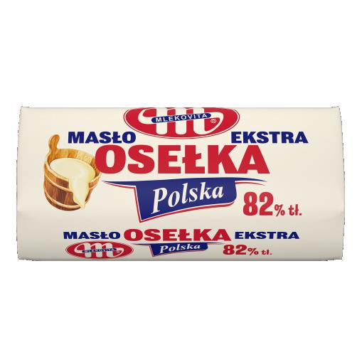 Masło Ekstra osełka (pergamin) 82% tłuszczu 500 g