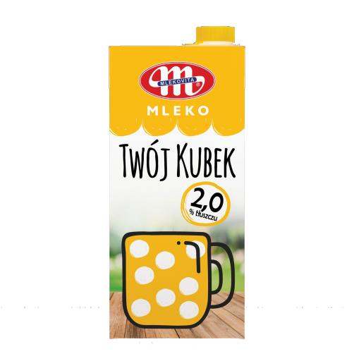 Mleko UHT Twój Kubek 2% tł. 1 L z zakrętką