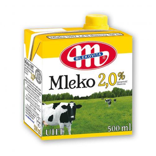 Mleko UHT 2,0% tłuszczu 500 ml
