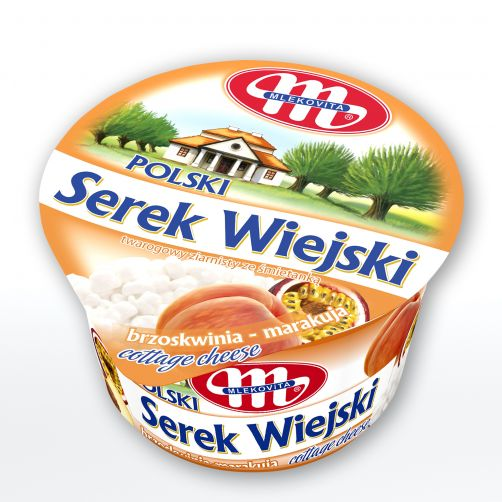 Serek WIEJSKI Polski brzoskwinia - marakuja 4,1% tłuszczu 150 g