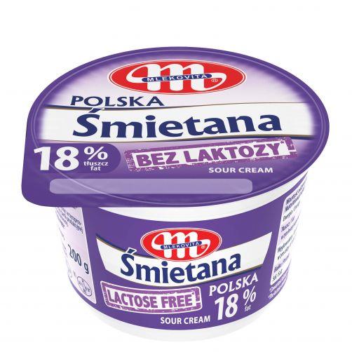 Śmietana Polska 18% bez laktozy 200 g