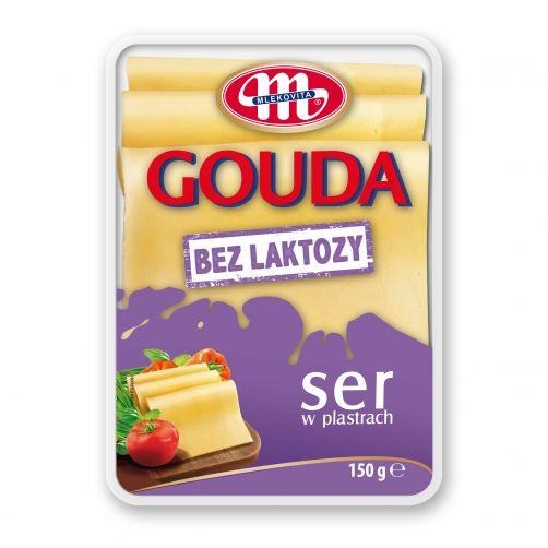 Ser Gouda bez laktozy plastry 150 g