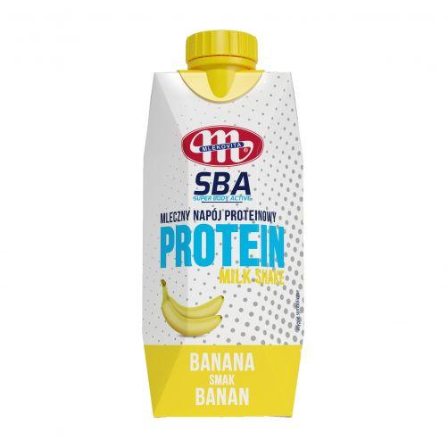 Mleczny napój proteinowy Super Body Active o smaku bananowym 350 g