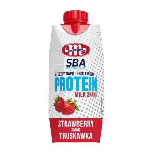 Mleczny napój proteinowy Super Body Active o smaku truskawkowym 350 g
