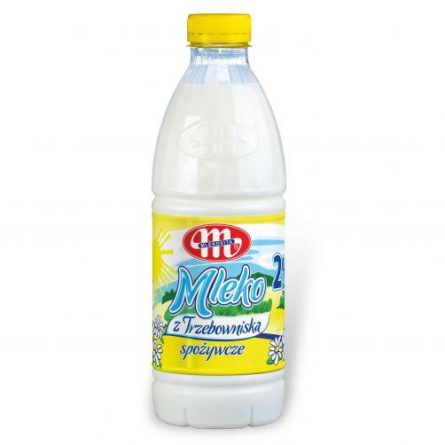 Mleko z Trzebowniska. Zawartość tłuszczu 2,0% 1 l