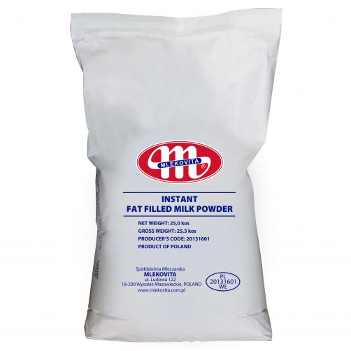 Instant Fat Filled Milk Powder - Instant proszek mleczny z tłuszczem roślinnym IFFMP 25 kg