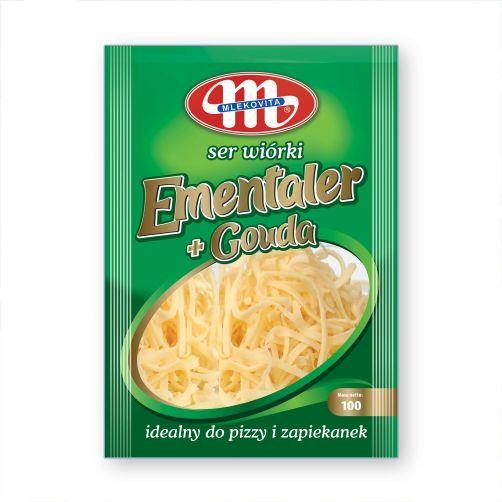 Ser tarty Premium wiórki 100 g (mix ser Ementaler + ser Gouda)
