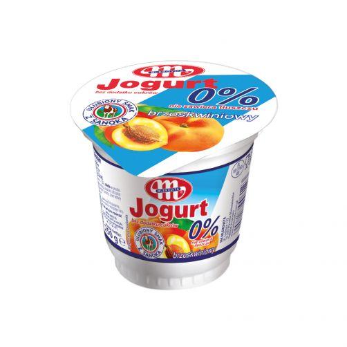 Jogurt brzoskwiniowy bez dodatku cukrów 0% tłuszczu 250 g