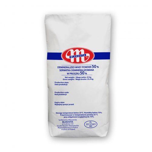 Demineralizowana serwatka w proszku 50% 25 kg