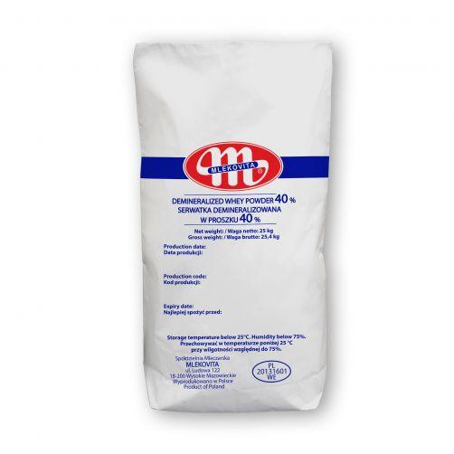 Demineralizowana serwatka w proszku 40% 25 kg