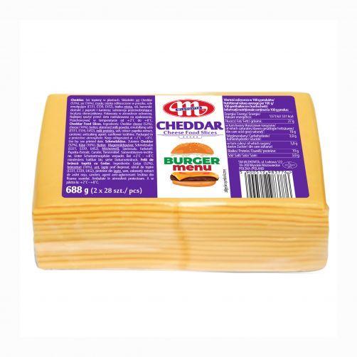 Cheddar ser topiony w plastrach 688 g