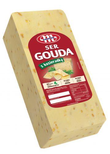 Ser Gouda z kozieradką blok ok. 3,2 kg