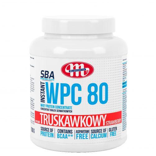 Super Body Active WPC 80 koncentrat białek serwatkowych instant truskawkowy 1000 g