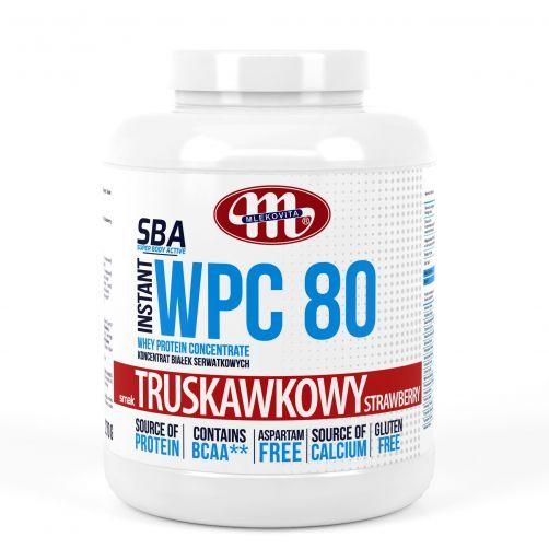 Super Body Active WPC 80 koncentrat białek serwatkowych instant truskawkowy 2270 g