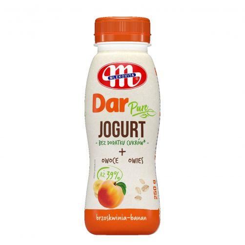 BEZ DODATKU CUKRÓW - jogurt pitny DAR PURE brzoskwinia - banan