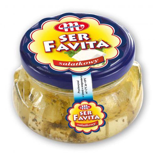Ser FAVITA kostkowany z ziołami w oleju 100 g