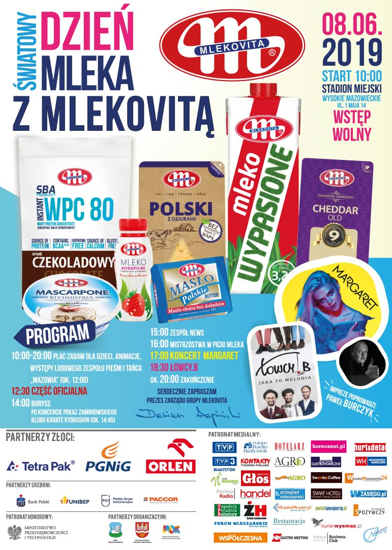 Światowy Dzień Mleka wPolsce zMLEKOVITĄ -plakat